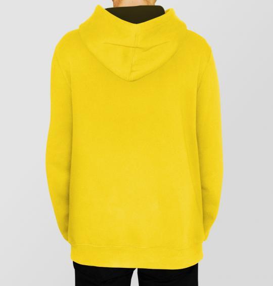 Mikina pánská s kapucí žltá